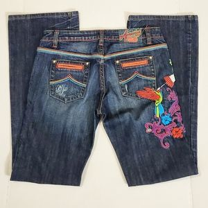Azzure' Graphic Print  The Perfect Fit Jean's